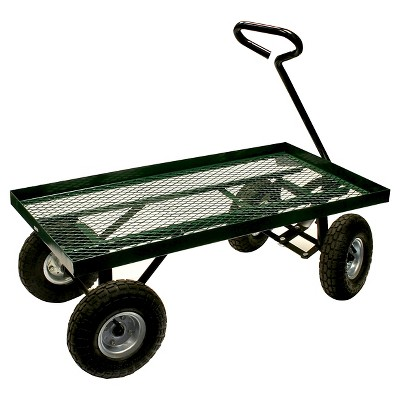 Series Flatbed Garden Cart   Green   Sportsman
