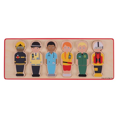Bigjigs Toys People Who Help Us Puzzle 18pc - image 1 of 3