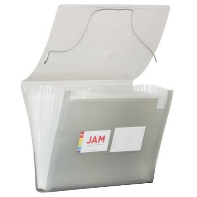 "JAM Paper 9"" x 13"" Plastic Expanding File Folder 13 Pocket - Letter Size"