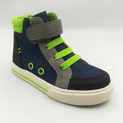 Toddler Boys' Tilman High Top Sneakers - Cat & Jack™ Blue - image 1 of 3