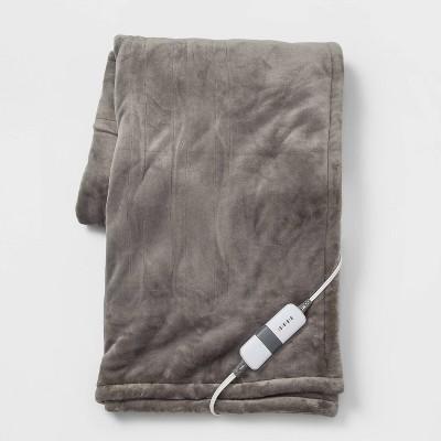 "50""x60"" Electric Sherpa & Microplush Throw Blanket - Threshold™"