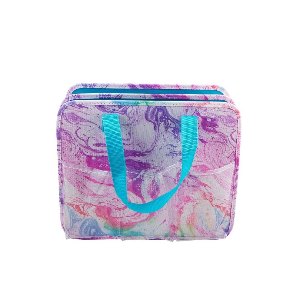 Image of Allegro Paint Swirl Makeup Bag and Organizer, Purple