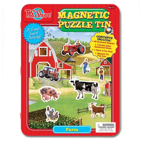 T.S. Shure - Farm Magnetic Tin Play Set - image 1 of 3