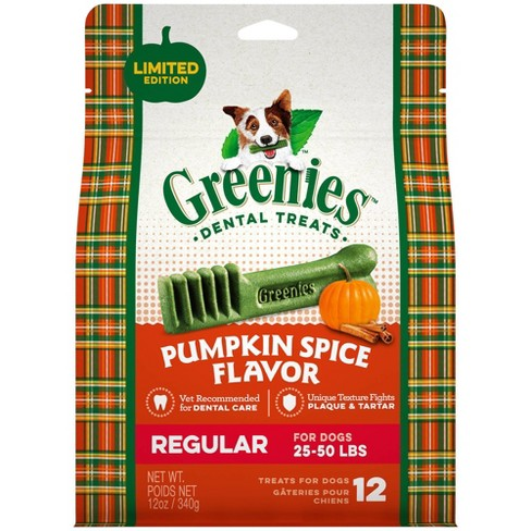 Greenies Pumpkin Spice Dental Treats Regular - 12ct/12oz - image 1 of 4