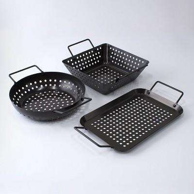 Char-Broil 3pc Grilling Topper Set Black