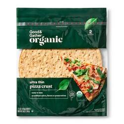 Organic Ultra Thin Pizza Crust - 10oz/2pk - Good & Gather™