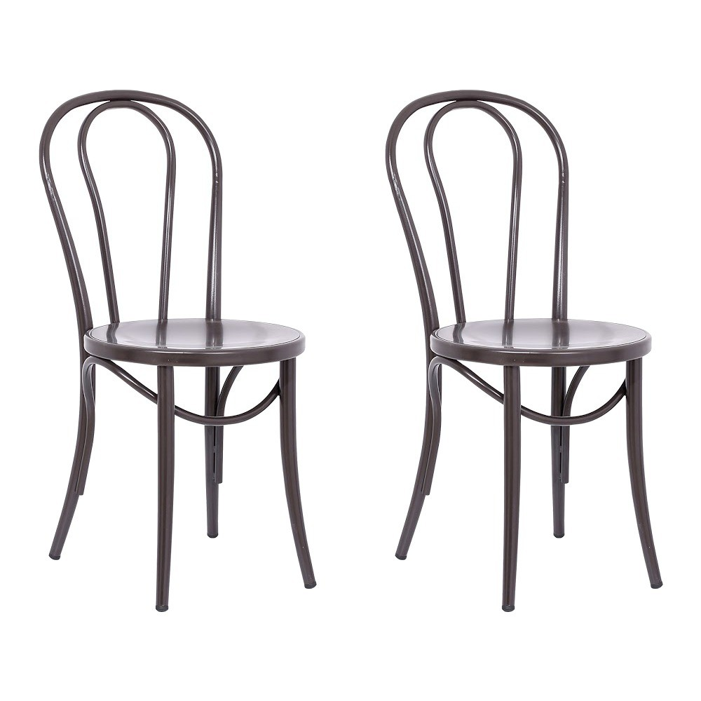 Ellie Bistro Dining Chair (Set of 2) - Reservation Seating by Ace Bayou, Antique Brown