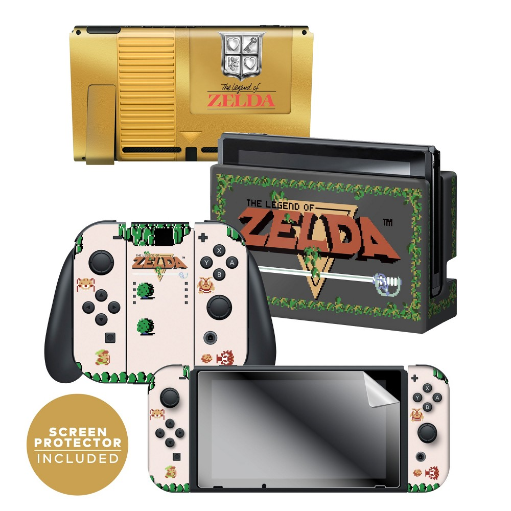 Nintendo Switch The Legend of Zelda Skin and Protector Set, Multi-Colored Nintendo Switch The Legend of Zelda Skin and Protector Set Color: Multi-Colored. Pattern: Fictitious character.