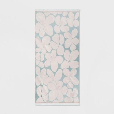 XL Hibiscus Beach Towel Cream/Aqua - Opalhouse™