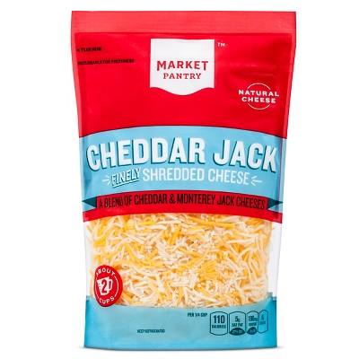 Finely Shredded Cheddar Jack Cheese - 8oz - Market Pantry™