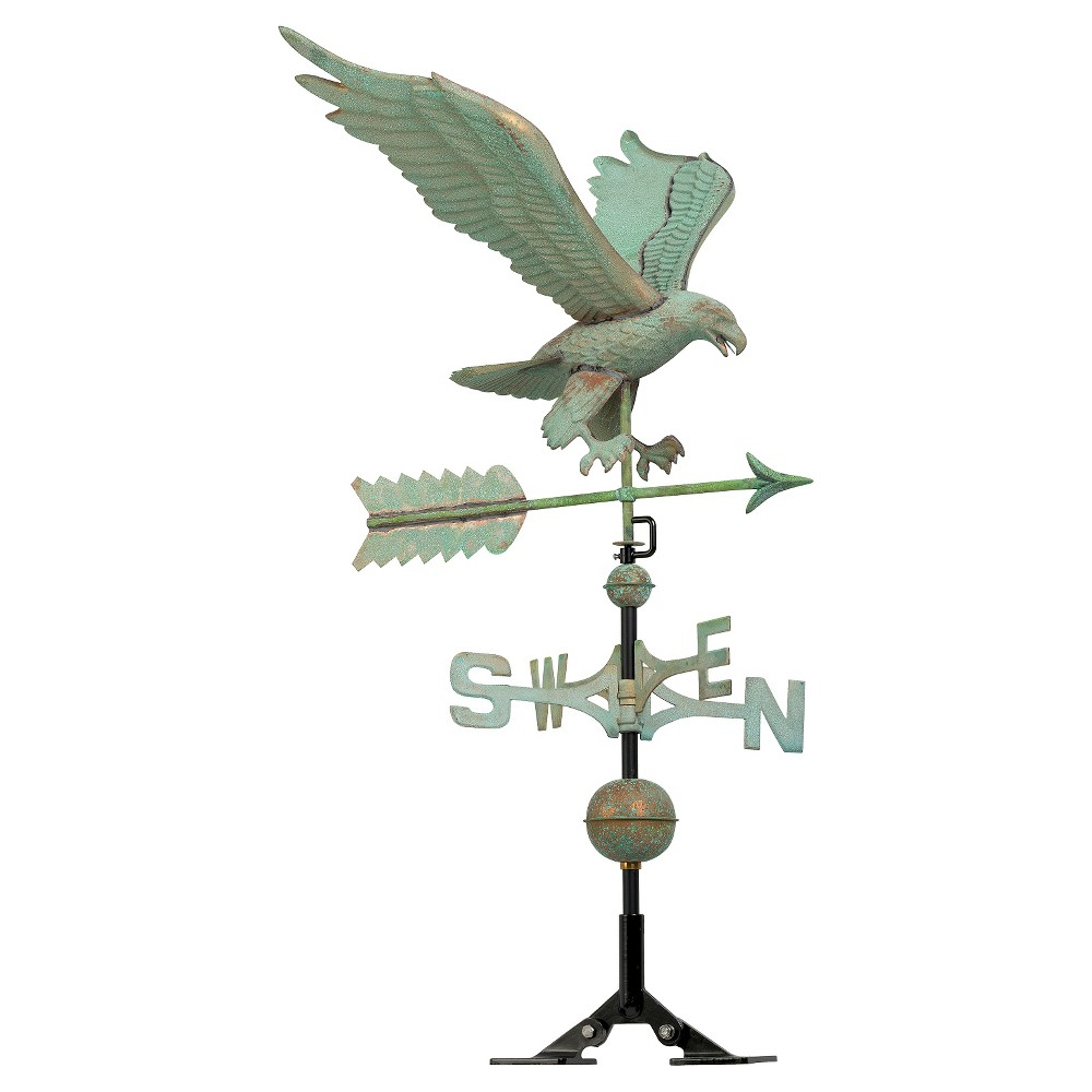 "Image of ""15.5"""" Eagle Weathervane - Copper Verdigris - Whitehall Products"""