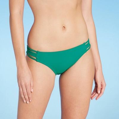 Women's Cheeky Bikini Bottom - Shade & Shore™ Green Jewel