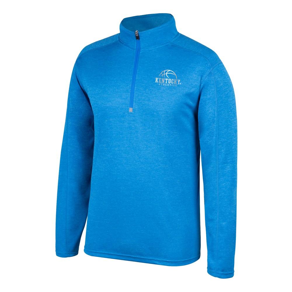 Kentucky Wildcats Men's Long Sleeve 1/2 Zip Pullover Sweatshirt - M, Blue