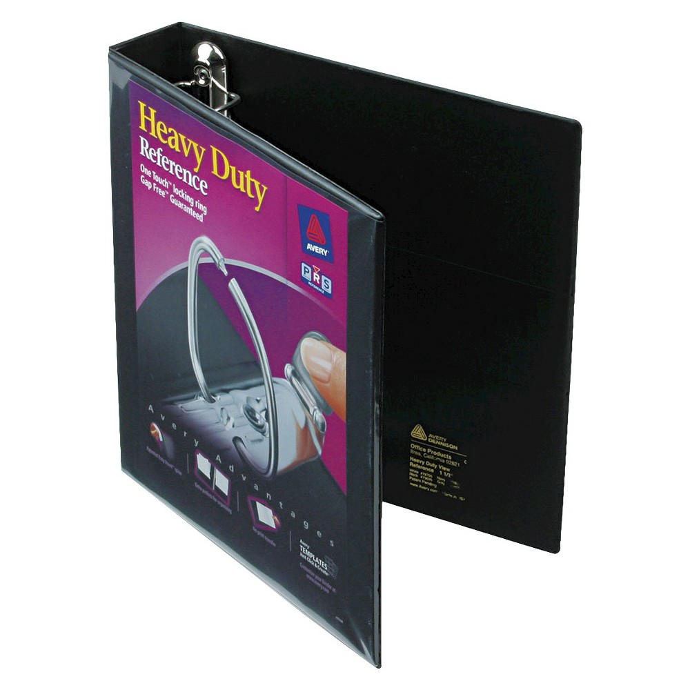 Avery 1.5 Heavy-Duty View Binder with One Touch Ezd Rings 2ct - 2 Pack - Black
