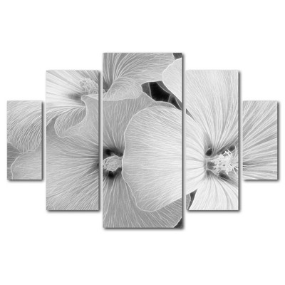 5pc Sheer Malva by Kathie McCurdy - Trademark Fine Art