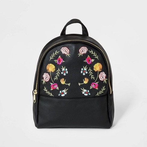 Girls' Embroidery Backpack - art class™ Black - image 1 of 2