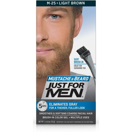 Just For Men Mustache and Beard Men's Hair Color, Light Brown M-25