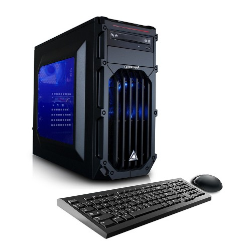 CybertronPC Palladium GXH7404T Gaming PC with Intel Core i7-7700 Processor, NVIDIA GeForce GTX 1050 Ti Graphics - Black/Blue - image 1 of 1