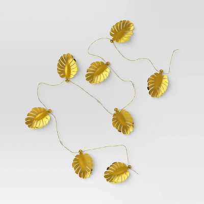 25ct LED Firefly and Leaf Mini Fairy String Lights Gold - Opalhouse™