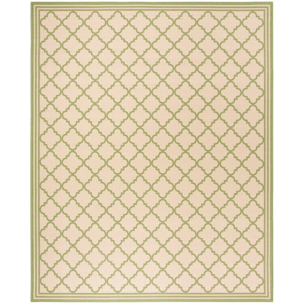 8'X10' Quatrefoil Design Loomed Area Rug Cream/Olive (Ivory/Green) - Safavieh