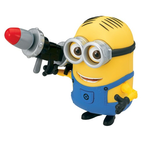 despicable me 2 minion dave deluxe action figure with rocket