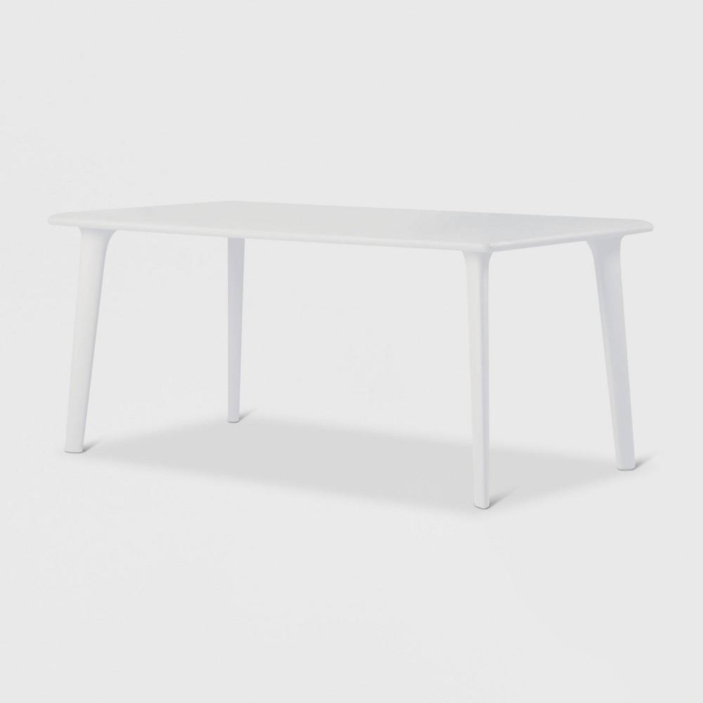Image of New Dessa Rectangular Patio Table - White - RESOL