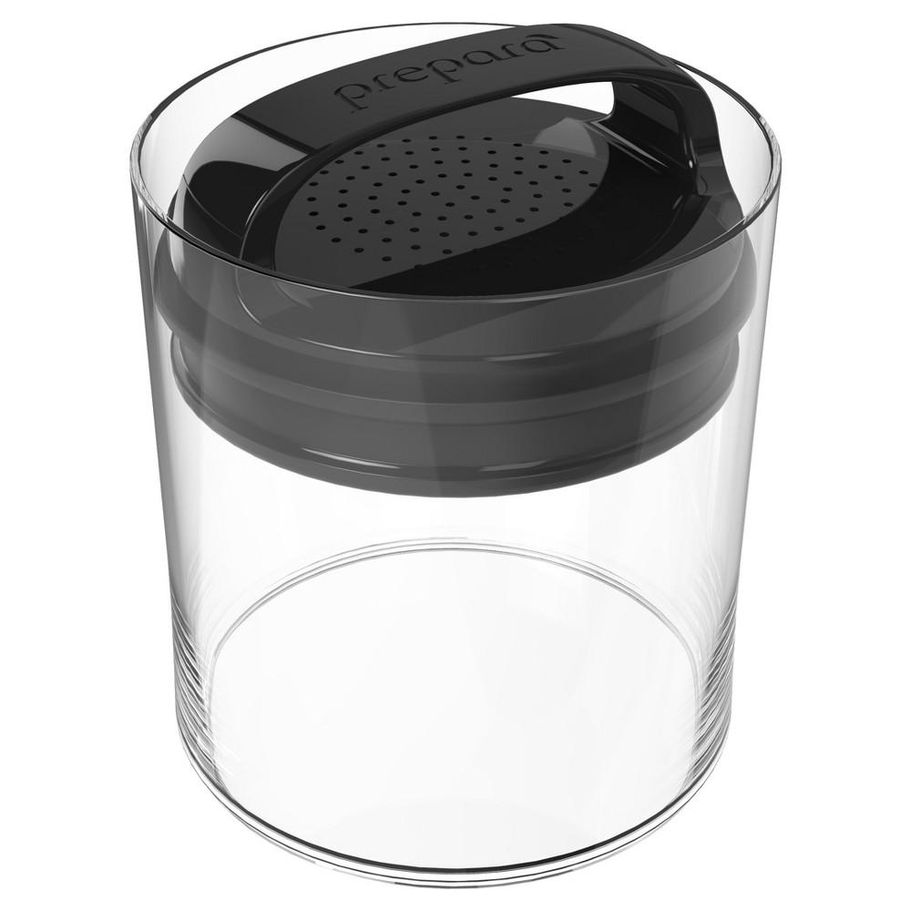 Food Storage Canister Short 1.1qt Black - Prepara