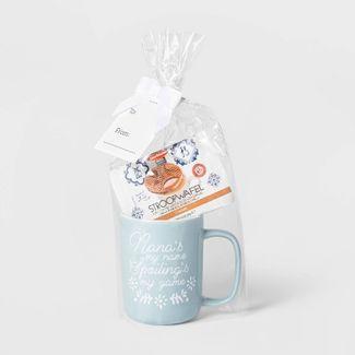 14oz Stoneware Nana's My Name Traveler Mug and Stroopwafel Blue - Threshold™