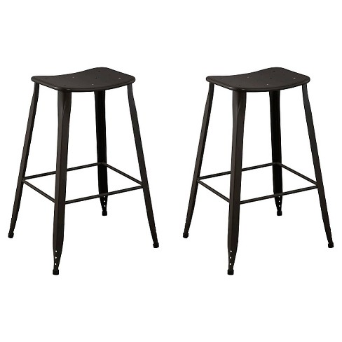 "Set of 2 Saddle Seat 29"" Barstool Steel - Ace Bayou - image 1 of 1"