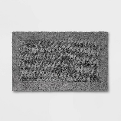 "23""x38"" Performance Textured Bath Rug Gray - Threshold™"