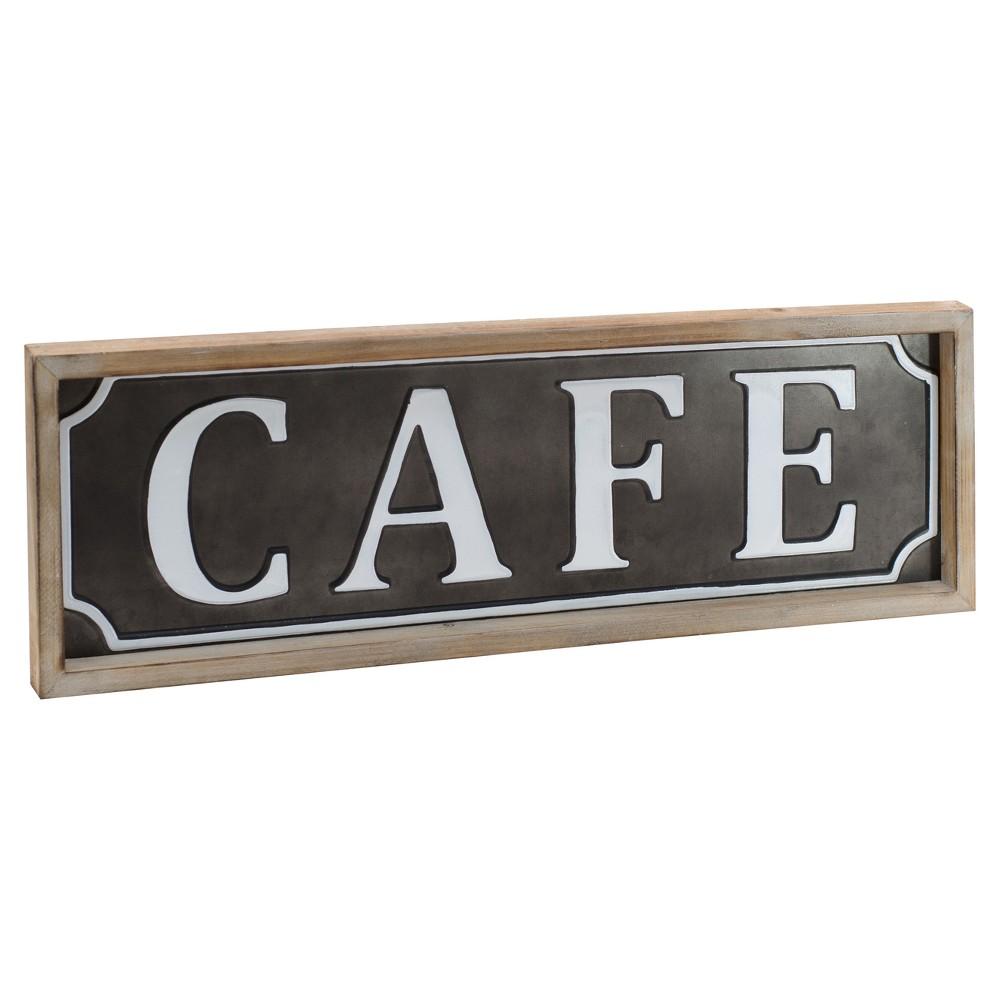 """Image of """"Café Wall Décor Black (24""""""""x8"""""""") - VIP Home & Garden"""""""