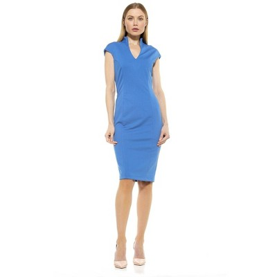 Alexia Admor Katrina V Neck Midi Dress
