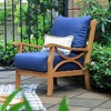 Abbington Teak Patio Lounge Chair with Cushion - Cambridge Casual - image 3 of 4