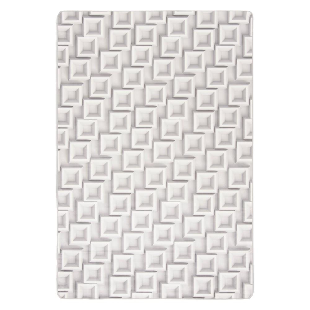 4'X6' Geometric Loomed Area Rug Ivory/Light Gray - Safavieh, White