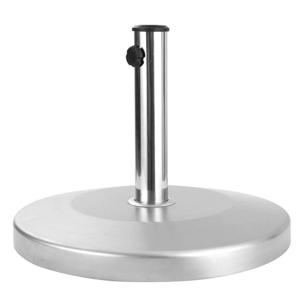 Image of Norco 50lbs Round Stainless Steel Umbrella Base - Steel - Christopher Knight Home