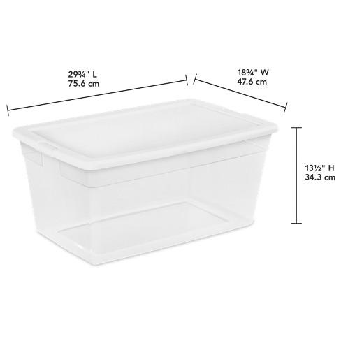sterilite storage bin clear with white lid 22 5gal target