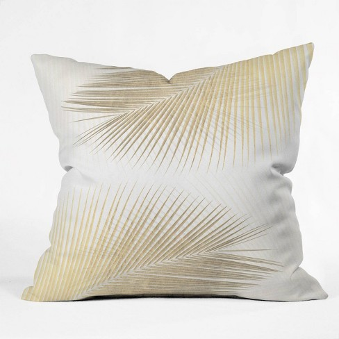 Gale Switzer Palm Leaf Synchronicity Square Throw Pillow Merona Gold Deny Designs Target