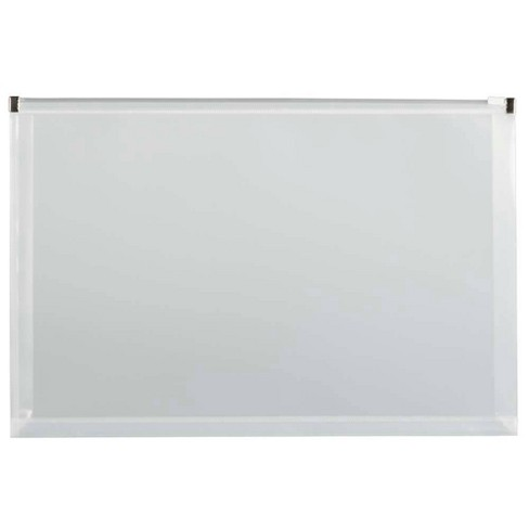 JAM Paper 9 3/4'' x 14 1/2'' 12pk Plastic Envelopes with Zip Closure, Legal Booklet - Clear - image 1 of 3