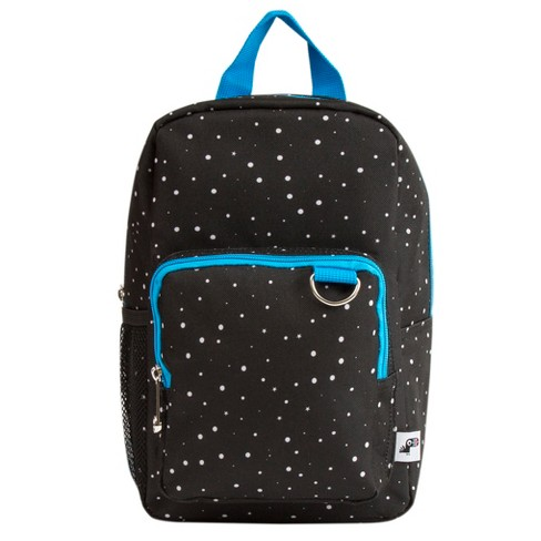 "Yoobi 11"" Backpack Lunch Bag with Water Bottle Pocket - Black Galaxy Print - image 1 of 2"