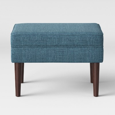 Incroyable Reston Cone Leg Storage Ottoman Blue   Project 62™