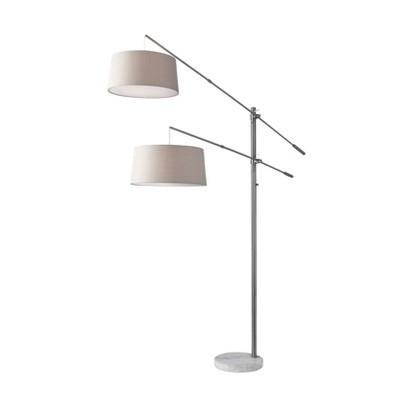 "78"" Manhattan Two Arm Arc Lamp Steel  - Adesso"