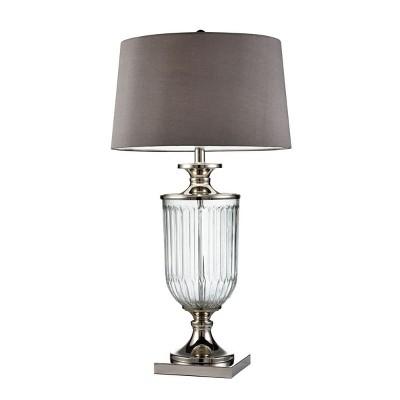"OK Lighting 32.50""H Amelie Glass Table Lamp"