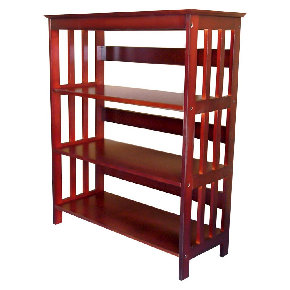 """Image of """"36"""""""" 3 Tier Bookcase Cherry - Ore International, Brown"""""""