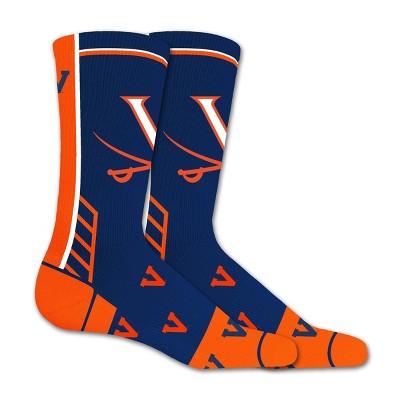 NCAA Virginia Cavaliers Tailgate Crew Socks 10-13