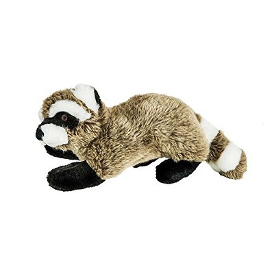 Fluff & Tuff Rocket the Raccoon, Large Plush Dog Toy with Squeaker
