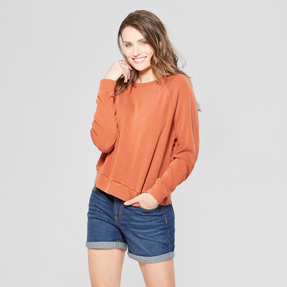 Women's Crew Neck Sweatshirt - Universal Thread Brown S