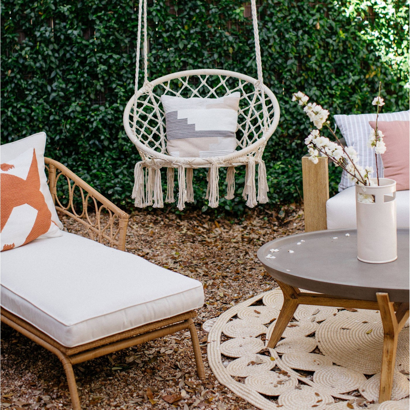 Outdoor Hanging Rope Chair