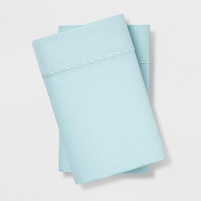 King 400 Thread Count Cotton Performance Pillowcase Set Aqua - Opalhouse™