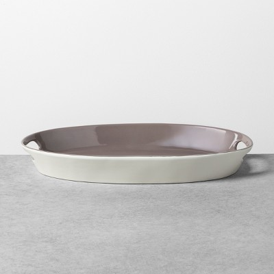 Oval Serving Platter Gray Stone / Sour Cream - Hearth & Hand™ with Magnolia