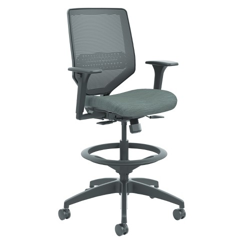 HON® Solve Series Mesh Back Task Stool Gray - image 1 of 1